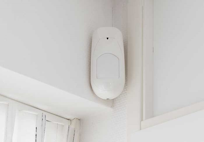 image of security camera on wall